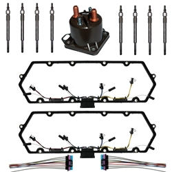1998-2003-ford-73l-powerstroke-valve-cover-gaskets-with-harness-glow-plug-controller-glow-plug-set