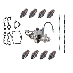 1994-2002-chevygmc-65l-fuel-injectors-glow-plugs-gaskets-and-pump-set