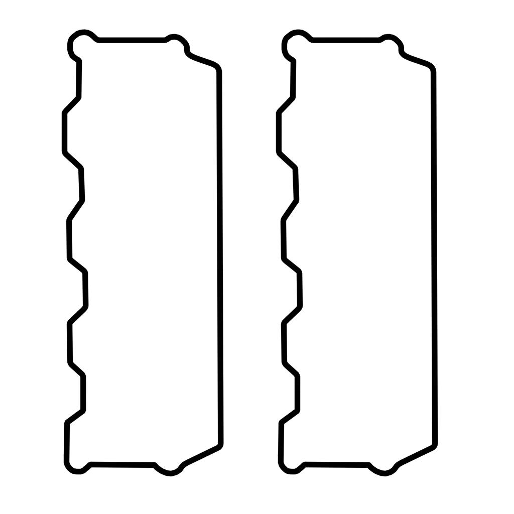 2003-2007 6.0L Ford Powerstroke Valve Cover Gasket Set Rocker Box-Lower 2 Sides